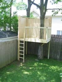 Simple backyard tree house | Hey! I made that.