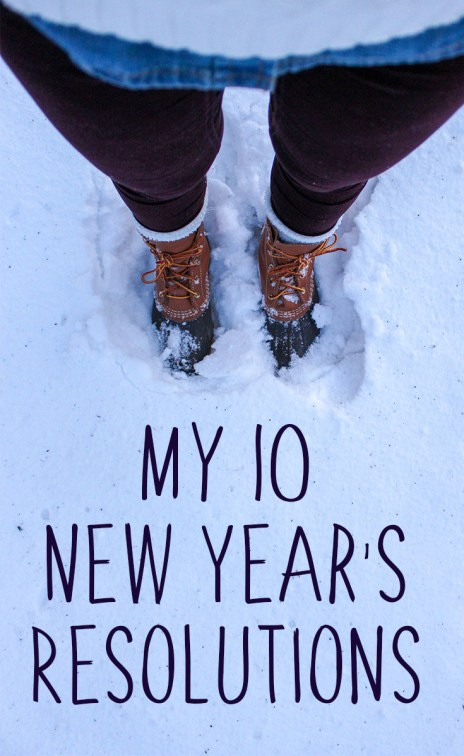 My 10 New Year's Resolutions | Hey It's Camille Grey