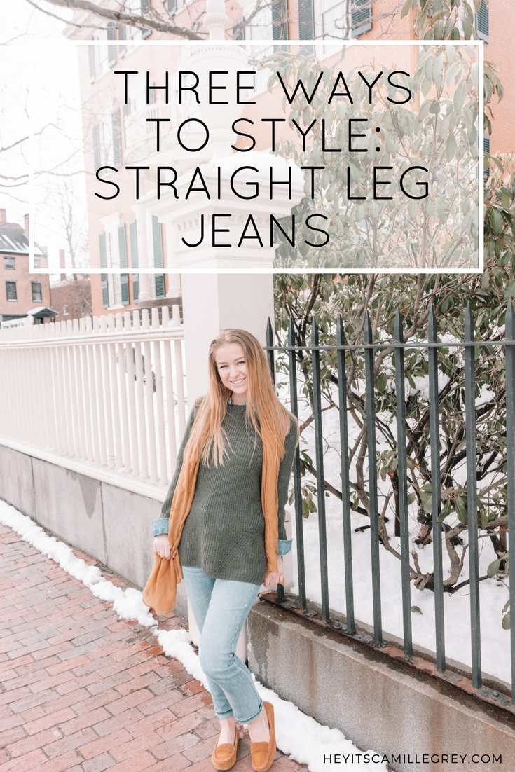 3 Ways to Style: Straight Leg Jeans