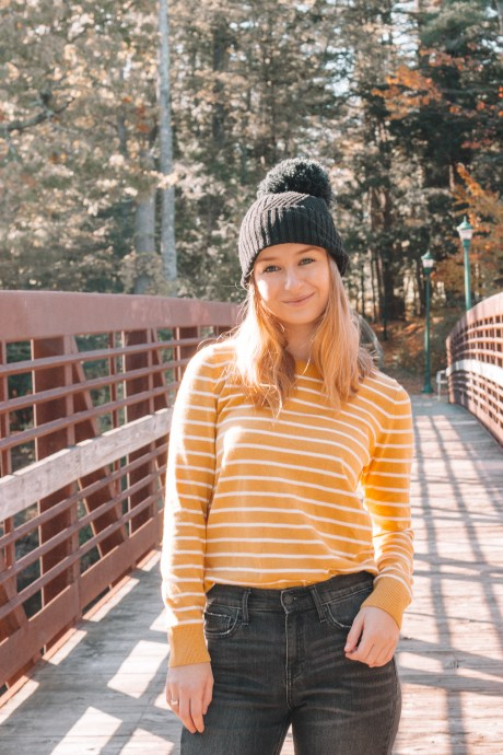 A Fall Look: Beanies and Striped Sweaters | Hey It's Camille Grey #fashion #fall #fallfashion #oldnavy #target #ootd