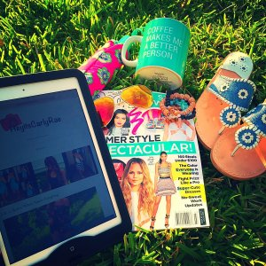 Starting My Week of with: People Style Magazine Ray-Bans GBeads Jack Rogers Vera Bradley Umbrella