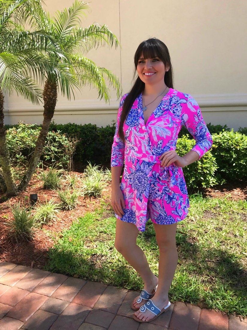 Rocking My Lilly Pulitzer Romper aka the Karlie Romper