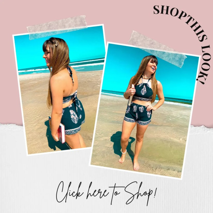 Shop this navy short outfit look