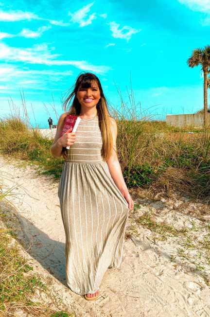 Grey Striped Maxi