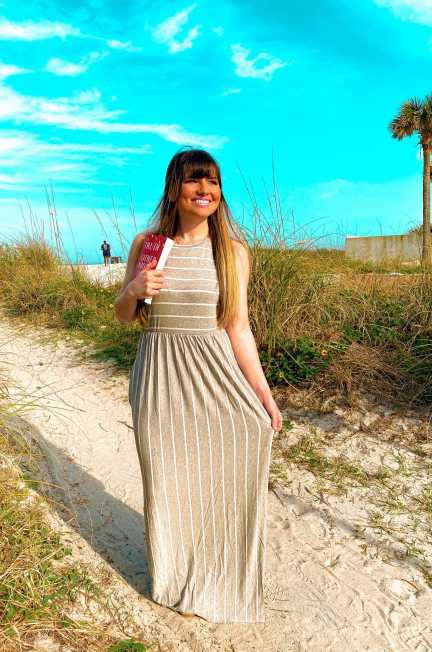 Maxi Dress with Pockets in grey