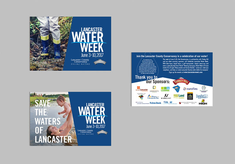 Postcard Design, Lancaster Conservancy's Water Week