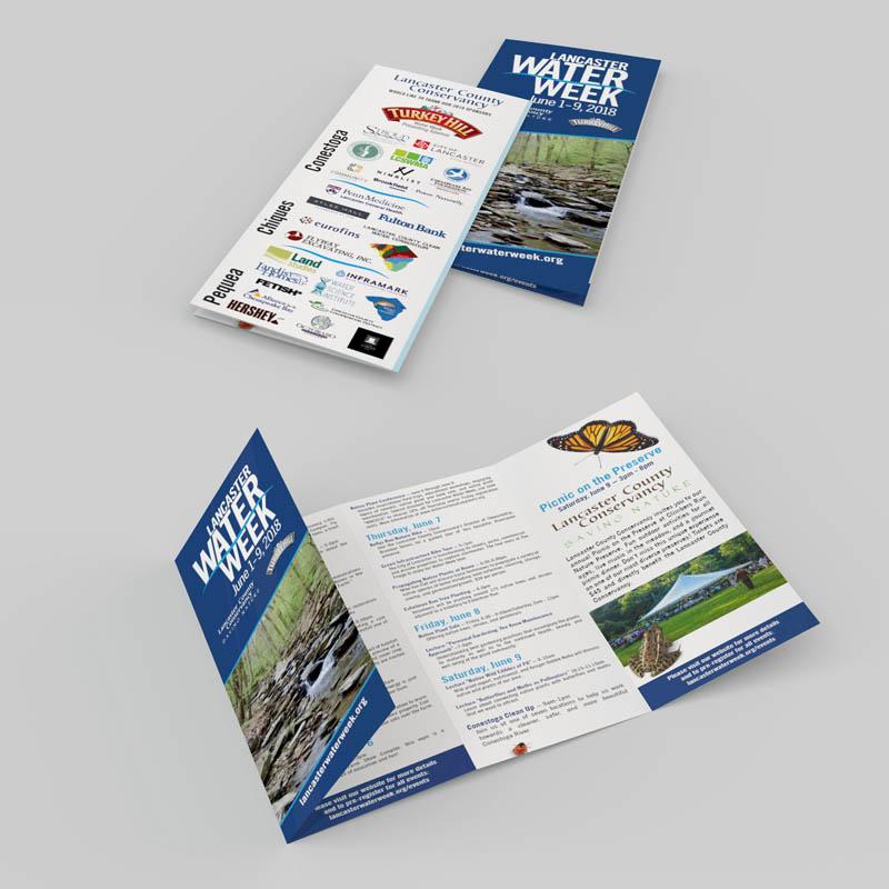 Brochure Design, Lancaster Conservancy's Water Week