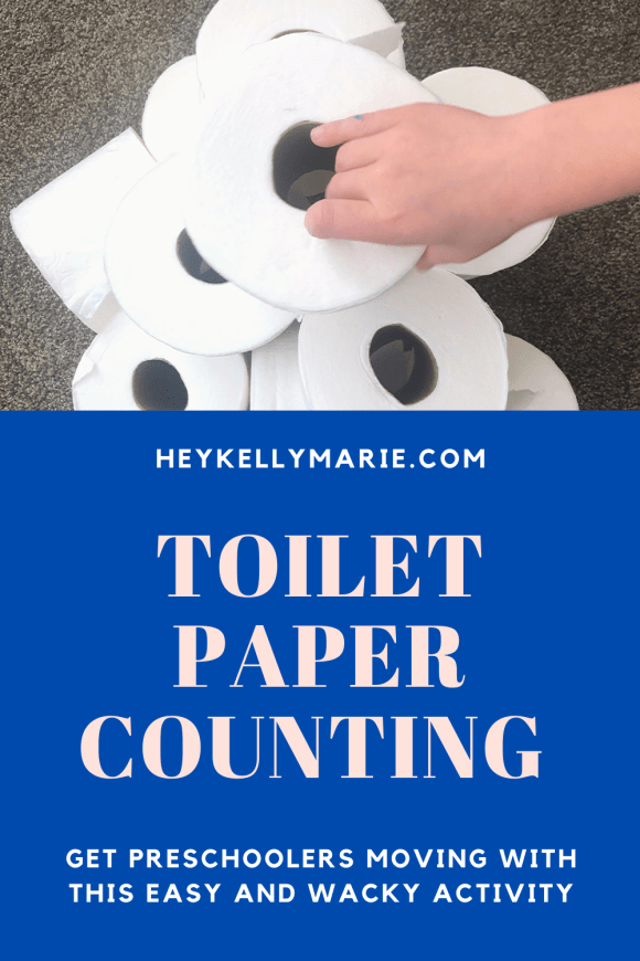 Toilet paper counting activity pin for pinterest. Users can share this activity or save it for later.