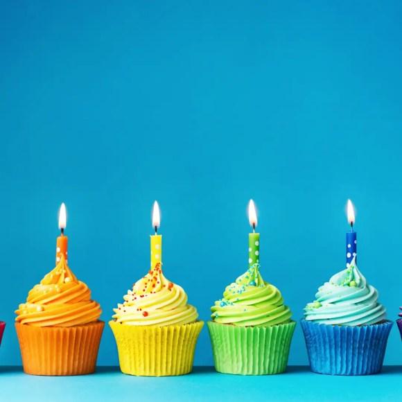 Rainbow cupcake image
