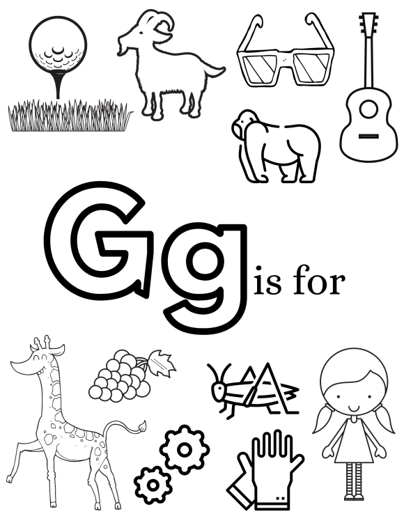 images of show and tell ideas that start with the letter G