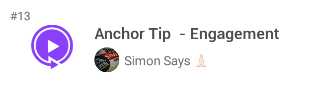 Simon Says Anchor Tip - Engagement