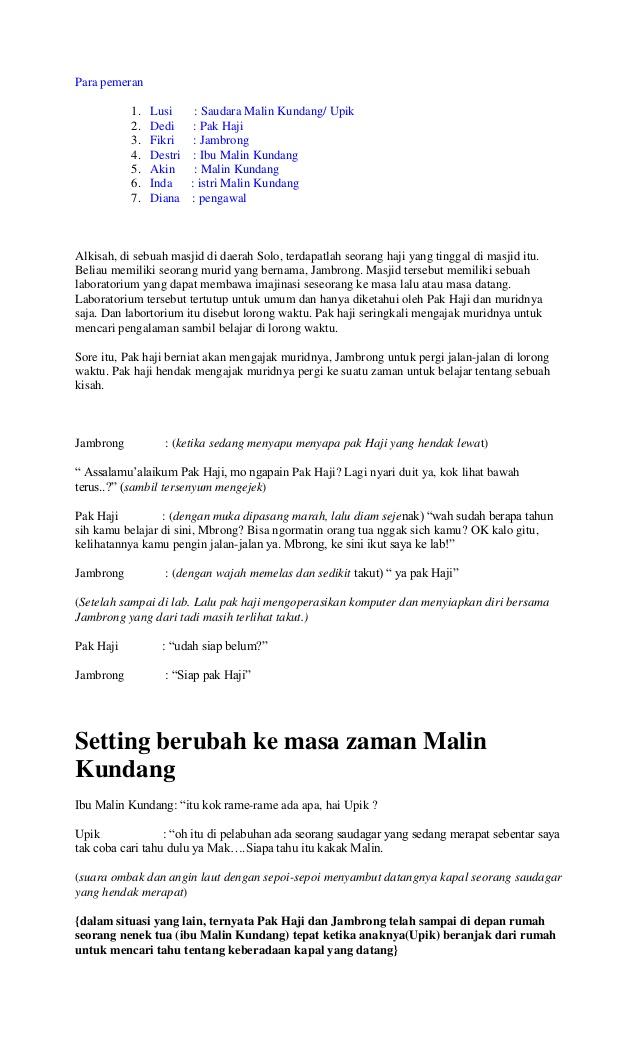 Naskah Drama Malin Kundang : naskah, drama, malin, kundang, Drama, Bahasa, Inggris, Orang, Heylasopa
