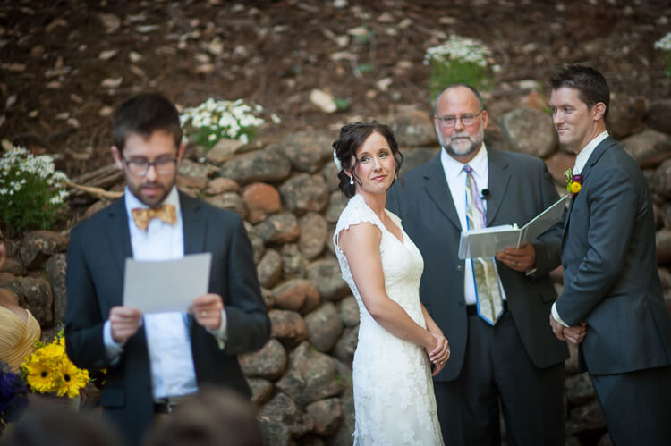 Beautiful forest wedding at Stones & Flowers outside Santa Cruz. Blogger Hey Let's Make Stuff shares all the details!