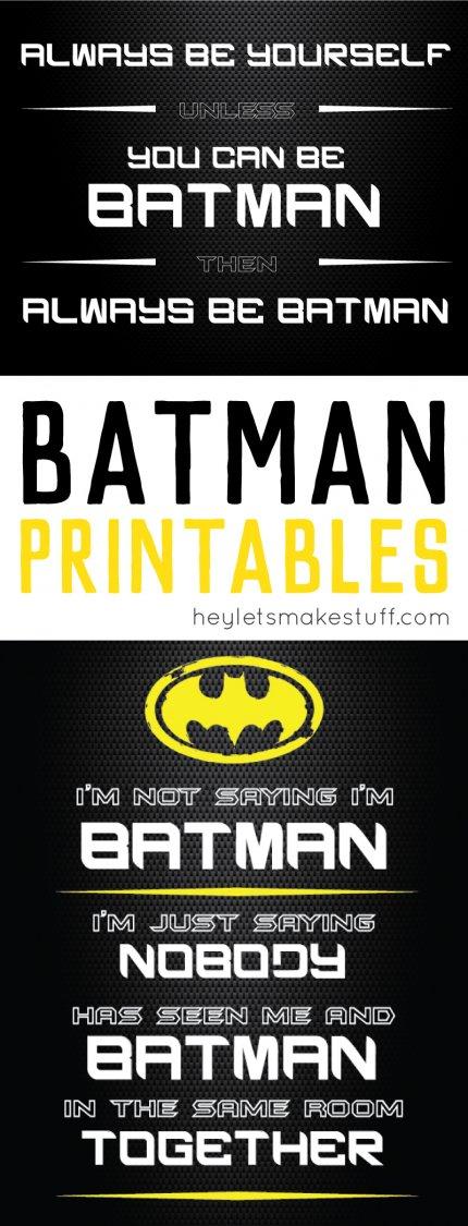Batman printables pin image