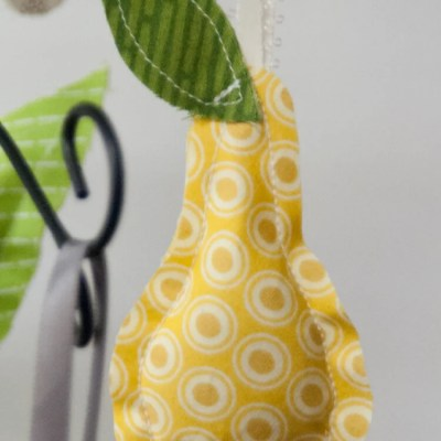 Partridge and Pear Ornament Sewing Pattern