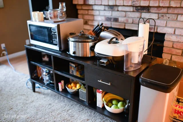 You'll find it much easier to survive a kitchen renovation by setting up an easy-to-use temporary kitchen!