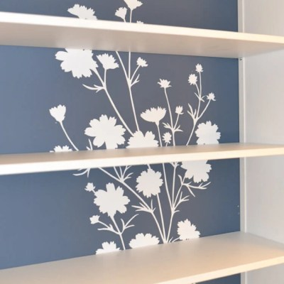 Updating the IKEA Hemnes Bookcase with Wallternatives