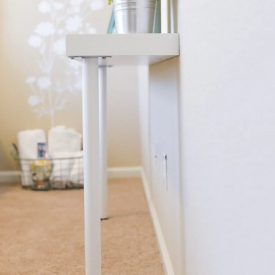 Simple IKEA Hack: Narrow Console Table