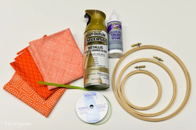 supplies needed for pumpkin embroidery hoops