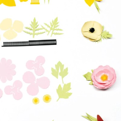 How to Make 3D Cricut Cardstock Flowers