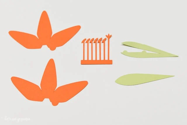 How to Assemble the Cricut Tiger Lily - Pieces Cut Out