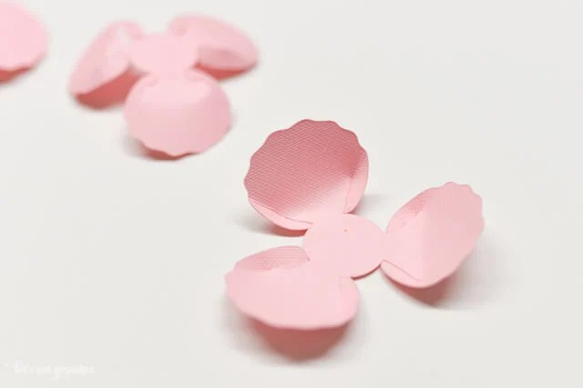 How to Assemble the Cricut Peony - Flower Flipped Over