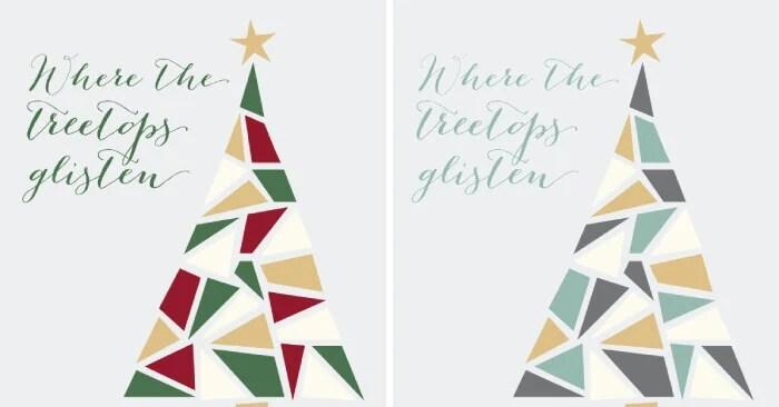 mosaic christmas tree printable