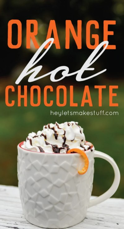 Orange hot chocolate is a delicious twist on an old classic. Perfect for fall, Thanksgiving, the holidays, and beyond into winter!