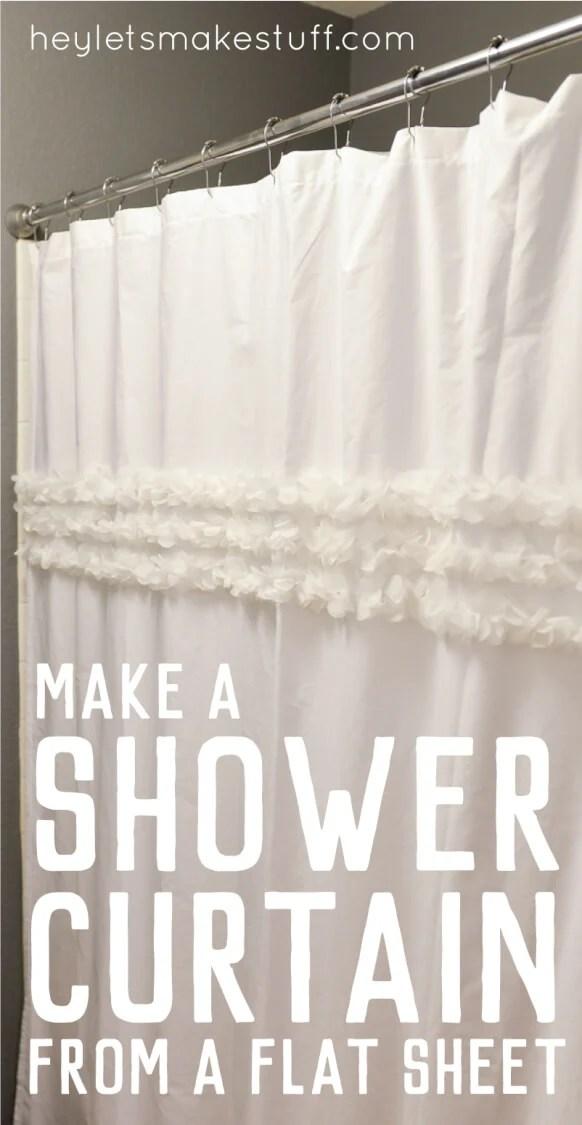 a shower curtain from a flat sheet