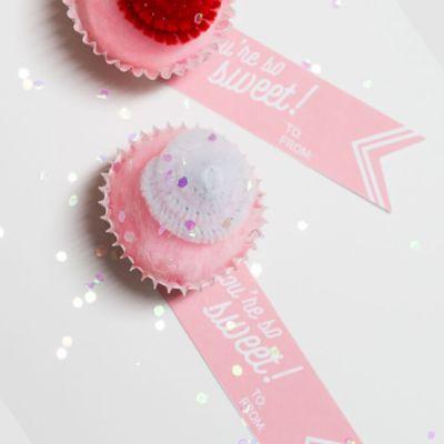 Cupcake Valentines + Free Printable Tag