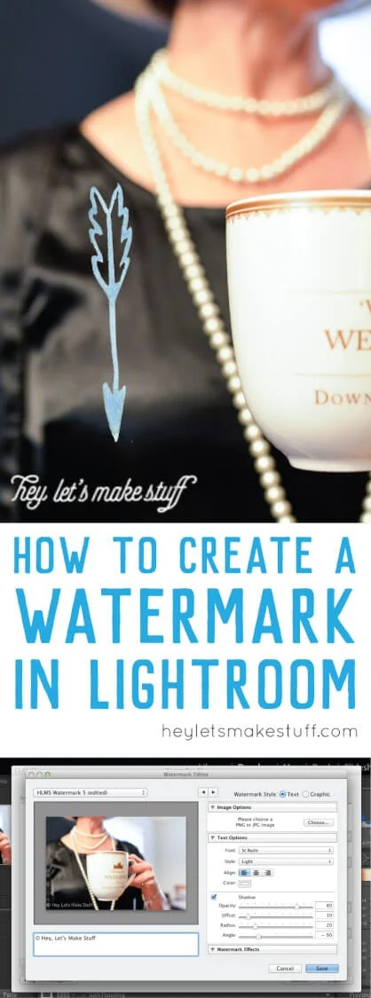 Here's how to create a watermark in Adobe Lightroom. Set it up once and it will watermark any photo you export! via @heyletsmakestuf