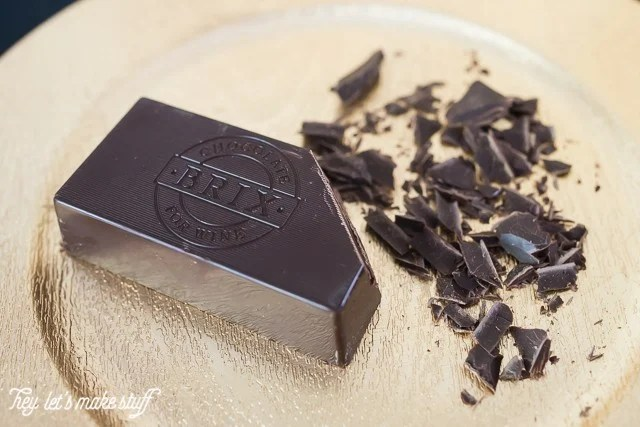 Brix chocolate on a plate