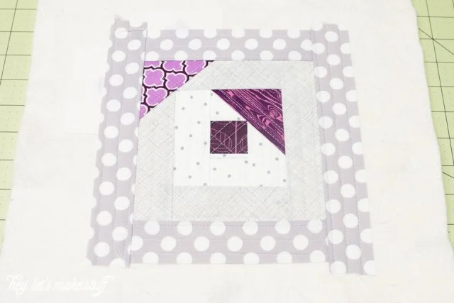 fabric squares pieced together using quilt-as-you-go method