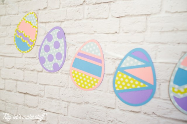 These Easter egg cut files are perfect for a sweet Easter banner or other Spring decor! Cut files for the Cricut or Silhouette.