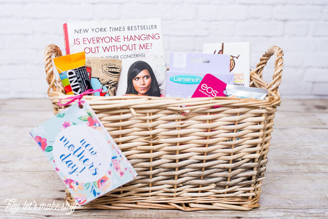 gift basket for new mom filled with stuff mom's really want