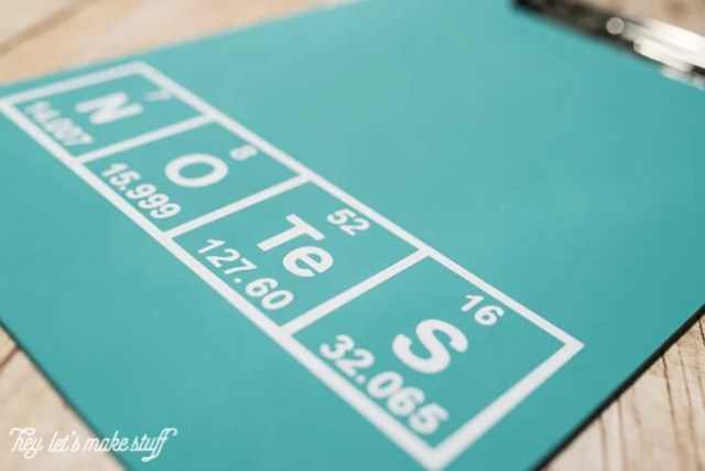 Need a gift for a favorite science teacher? This Periodic Table Clipboard Teacher Appreciation Gift is the perfect gender-neutral gift!