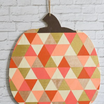 Geometric Wood Pumpkin