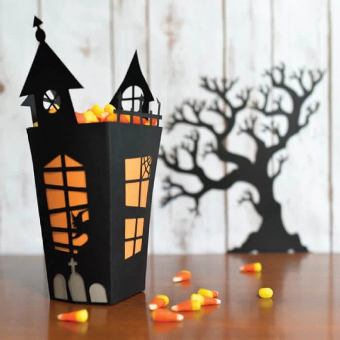 haunted house candy box
