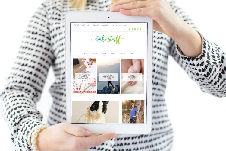bloggers guide to rebranding e-book on an ipad
