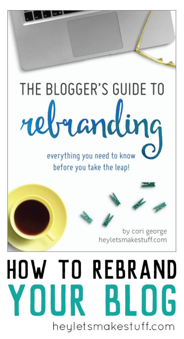 bloggers guide to rebranding e-book pin image