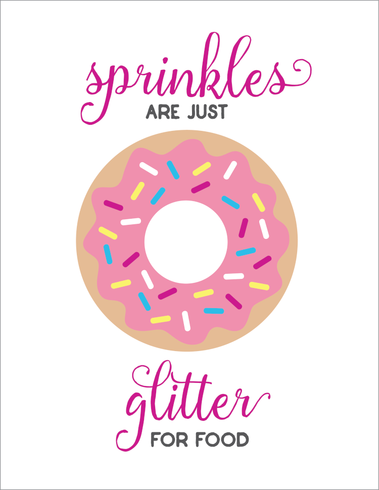 picture regarding Donut Printable named Sprinkles are Glitter for Food stuff Donut Printable - Hey, Permits