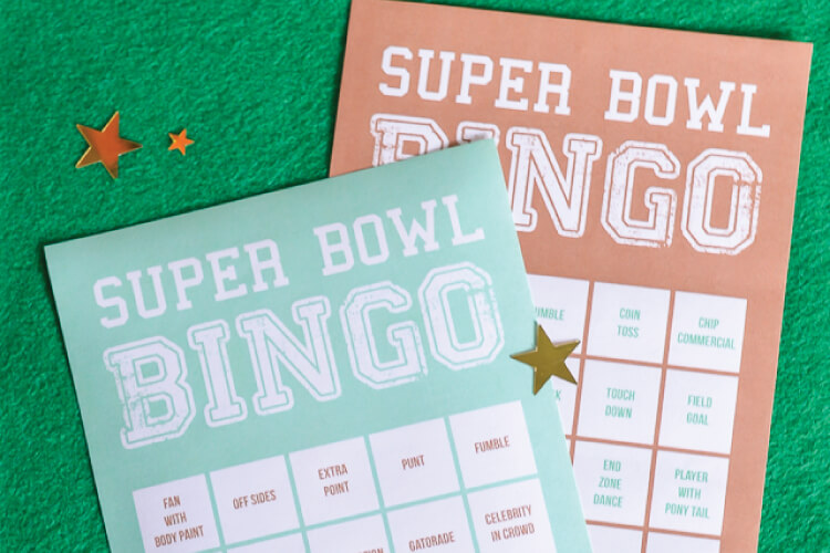 picture regarding Printable Super Bowl Bingo Cards identify Tremendous Bowl Bingo - Hey, Permits Create Things