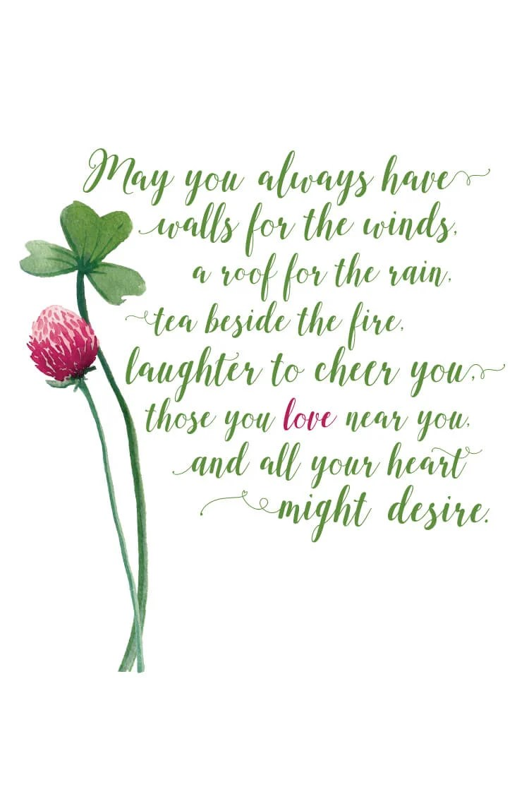 image about Printable Irish Blessing named Irish Blessing Totally free Printable - Hey, Makes it possible for Deliver Things
