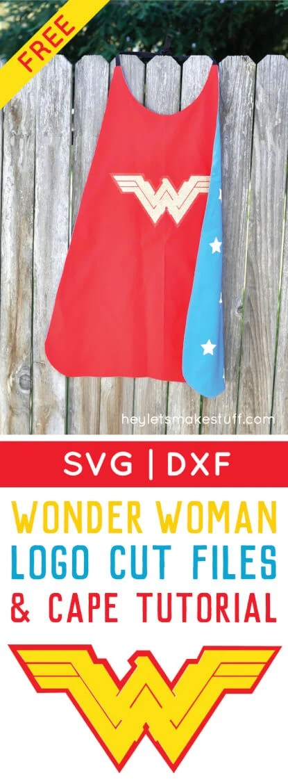 Wonder Woman gets an update in the new Batman v Superman movie! Get the free cut file for her new logo, plus learn how to sew a quick cape! via @heyletsmakestuf