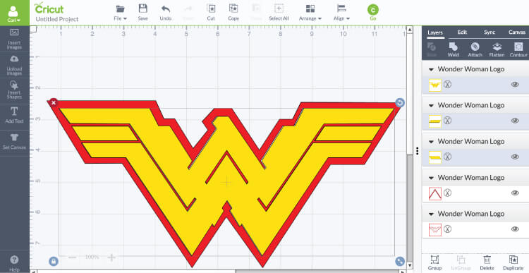 Wonder Woman gets an update in the new Batman v Superman movie! Get the free cut file for her new logo, plus learn how to sew a quick cape!