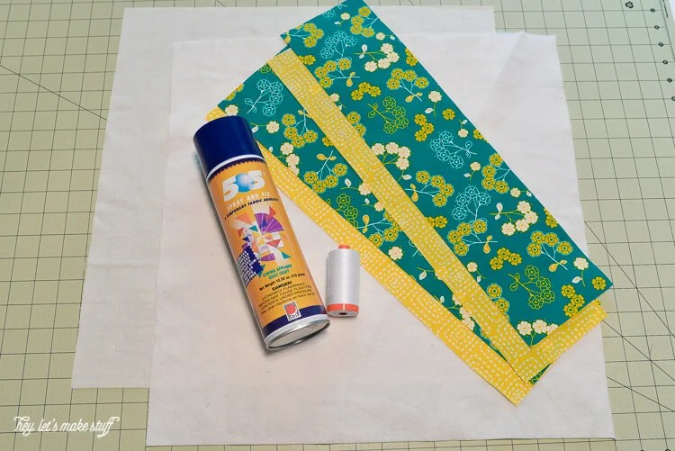 supplies for Quilt-As-You-Go