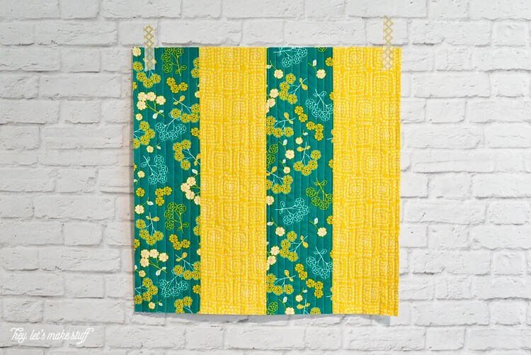 learn Quilt-As-You-Go with this big stripes panel