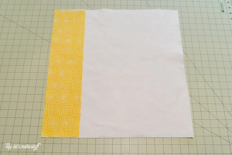 step 1 - Quilt-As-You-Go with big stripes panel