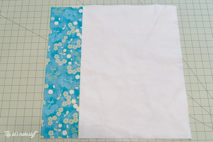 step 2 - Quilt-As-You-Go with big stripes panel
