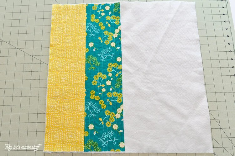 step 3 - Quilt-As-You-Go with big stripes panel